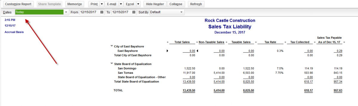 This Weeks Question QuickBooks Daily Invoice And Sales Tax Reports - Quickbooks invoice report by date