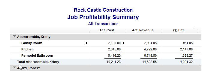 job costing with quickbooks