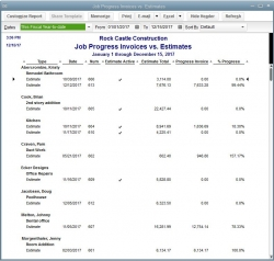 Job Costing Report in QuickBooks